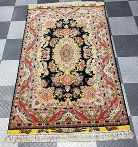 Hand-knotted wool & silk, removed pet stains by Oriental Express Vegas Rug Washers