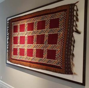 Oriental Express can repair and clean your rugs before being framed
