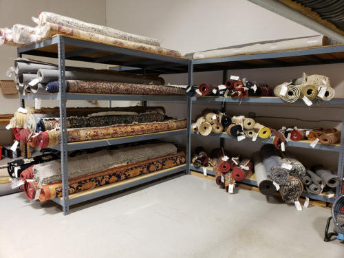We store all of our customers rugs until they are ready for pick-up or delivery.